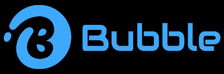 Bubble laundry service logo